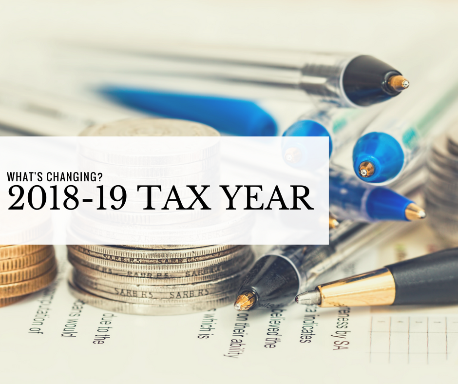 The Main Changes This Tax Year 2018-19